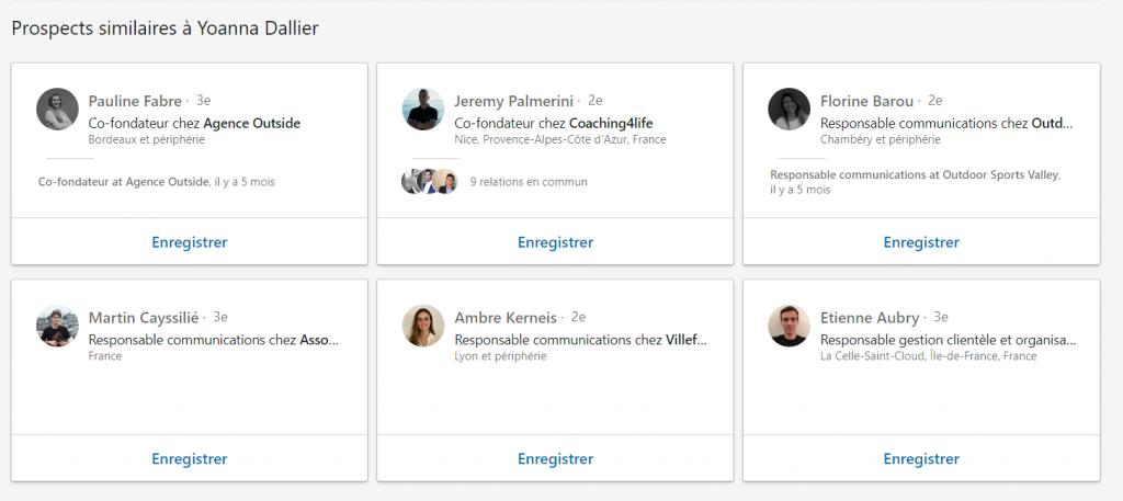 La section Prospects similaires à dans LinkedIn Sales Navigator