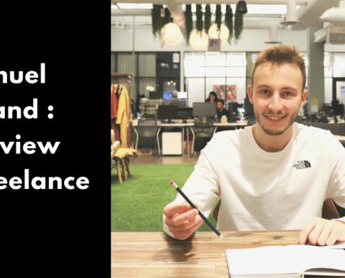 Découvre mon interview avec Samuel Durand, chargé d'apprentissages freelance. Au menu : son rapport au freelancing, aux réseaux sociaux et au voyage.