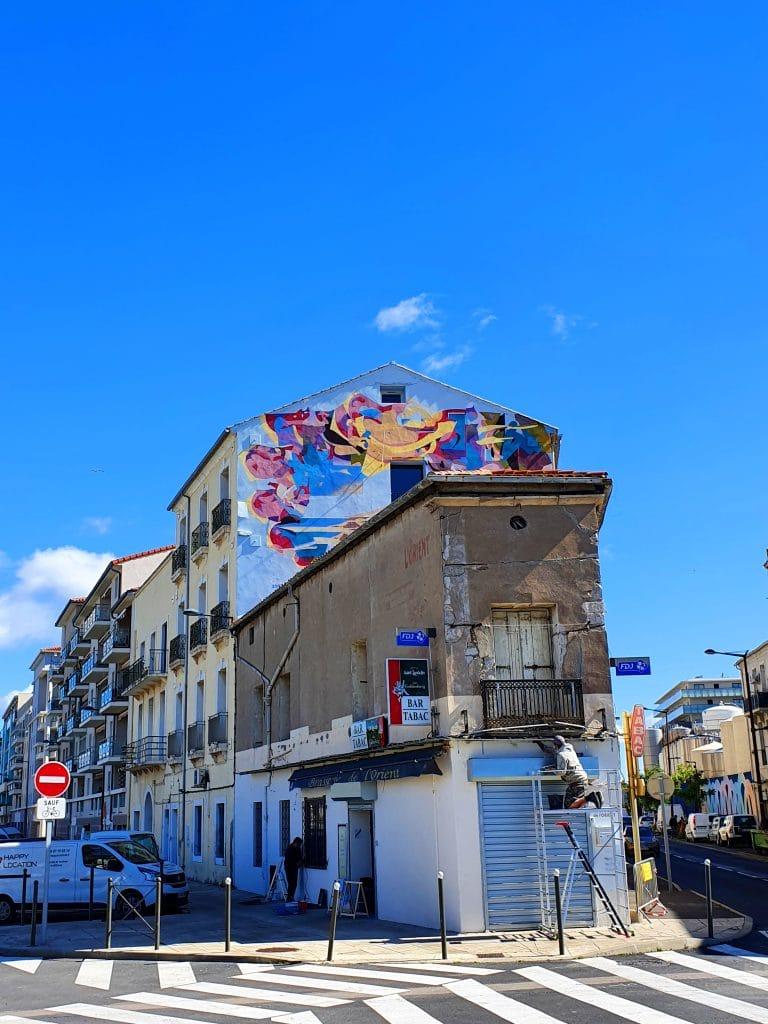 Le mural de SatOne à Sète (France)