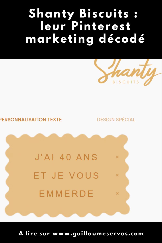 Comment Shanty Biscuits utilise Pinterest pour son business ? Je décode le Pinterest marketing de la marque de biscuits personnalisés de Provence.