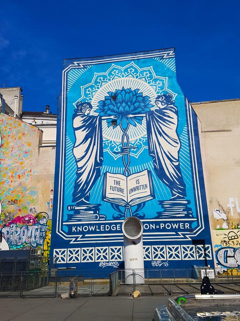 """""""Le futur n'est pas écrit"""" Shepard Fairey , Paris."""
