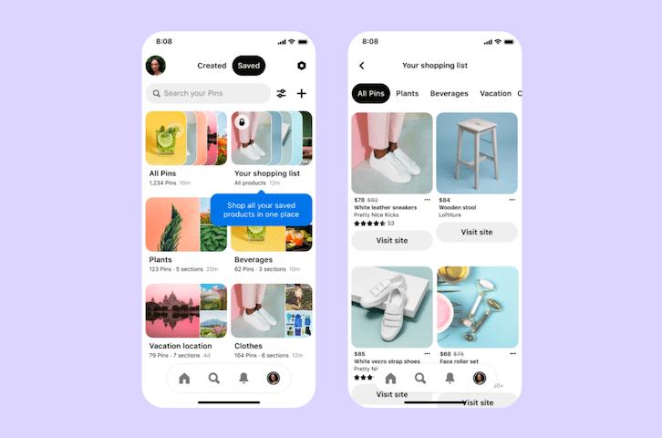 Les liste Shopping Pinterest arrivent bientôt en France