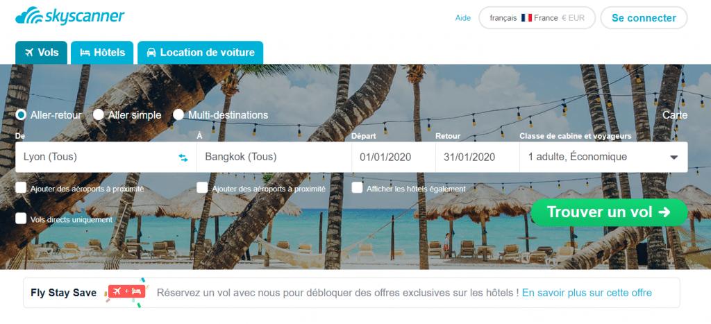 Skyscanner, l'incontournable pour comparer les prix des billets d'avion (préparer son voyage)