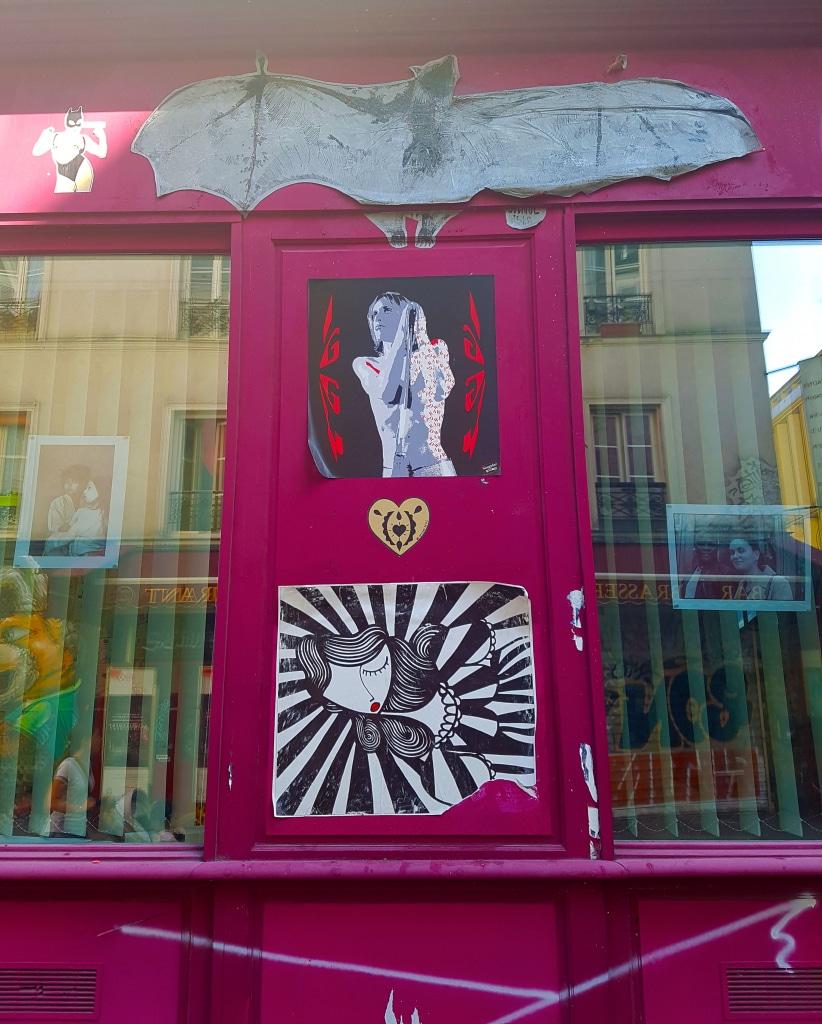 Sonke à proximité de la rue Dénoyez , street art Paris.