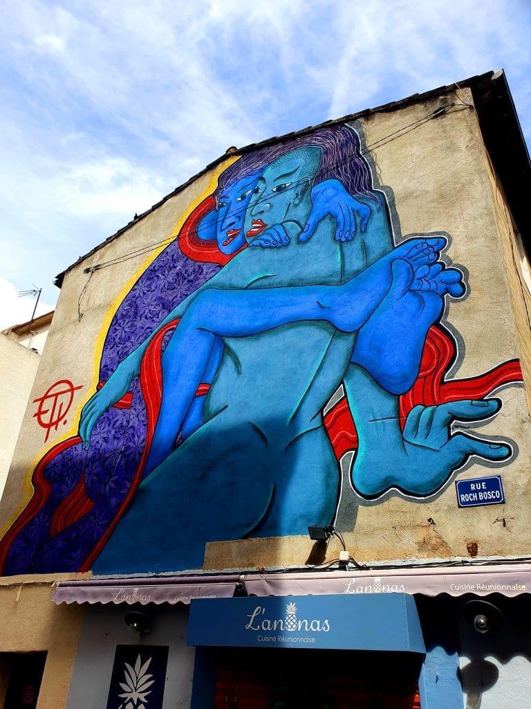 La fresque street art de Stew à Sète (France)