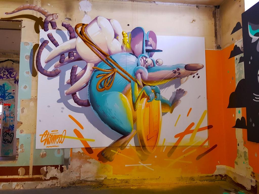 Découvre le street artiste Stom 500 à l'exposition street art ZOO Art Show de Lyon