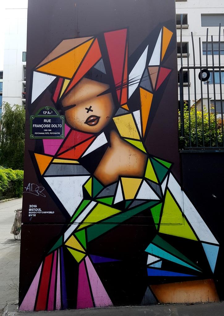 Le street artiste Stool dans le 13 arrondissement de Paris