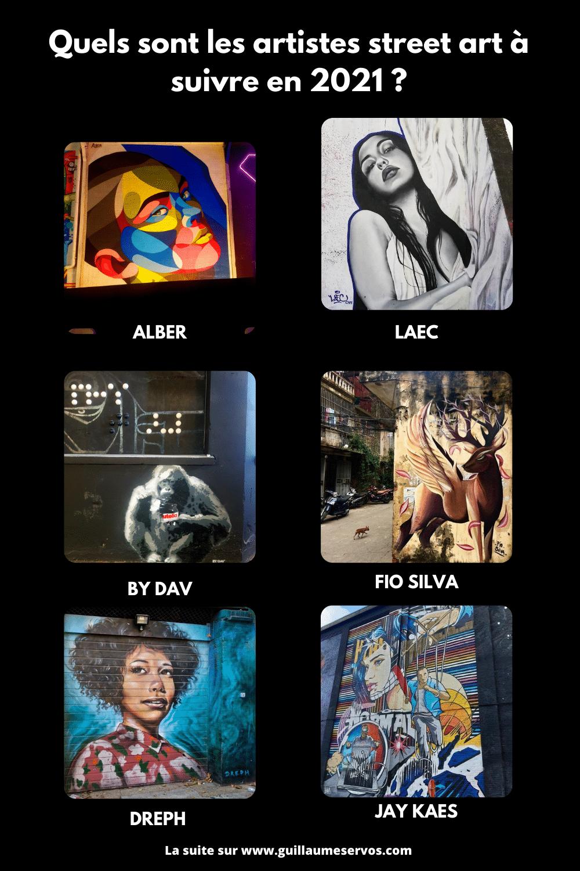 Tu aimes le street art et tu veux découvrir les street artistes les plus prometteurs en 2020. Au menu : Alber, LAEC, Jay Kaes, Dreph, Bouda…
