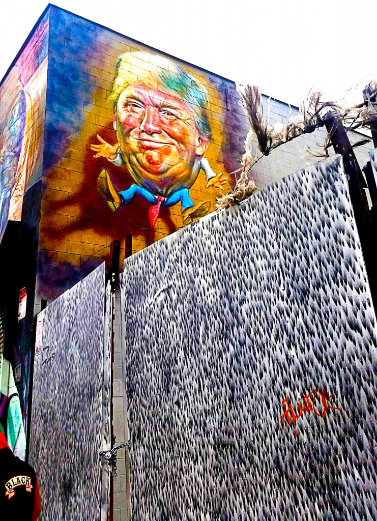 Donald Trump en street art à Bushwick, New York