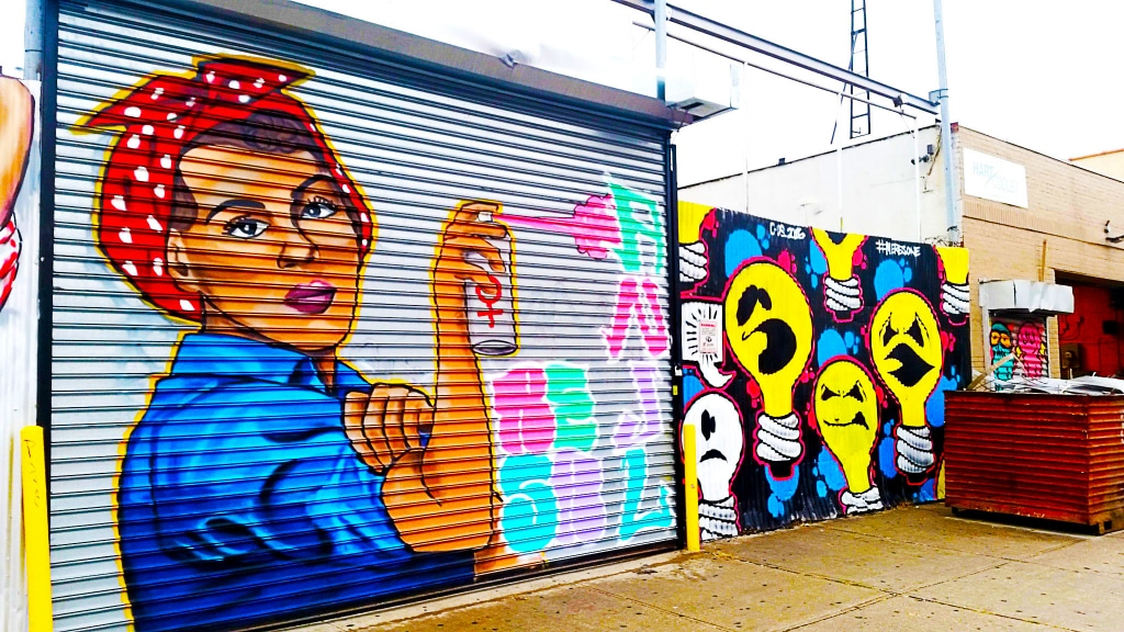 street art près de notre hébergement à Myrtle-Wyckoff à Brooklyn, New York