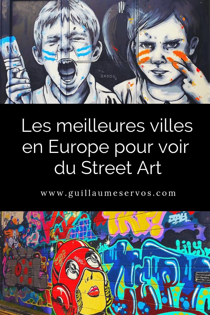 Tu aimes le street art ? Découvre les 5 meilleures villes en Europe pour voir de l'art urbain. Au menu : Londres, Athènes, Lisbonne, Berlin, Paris