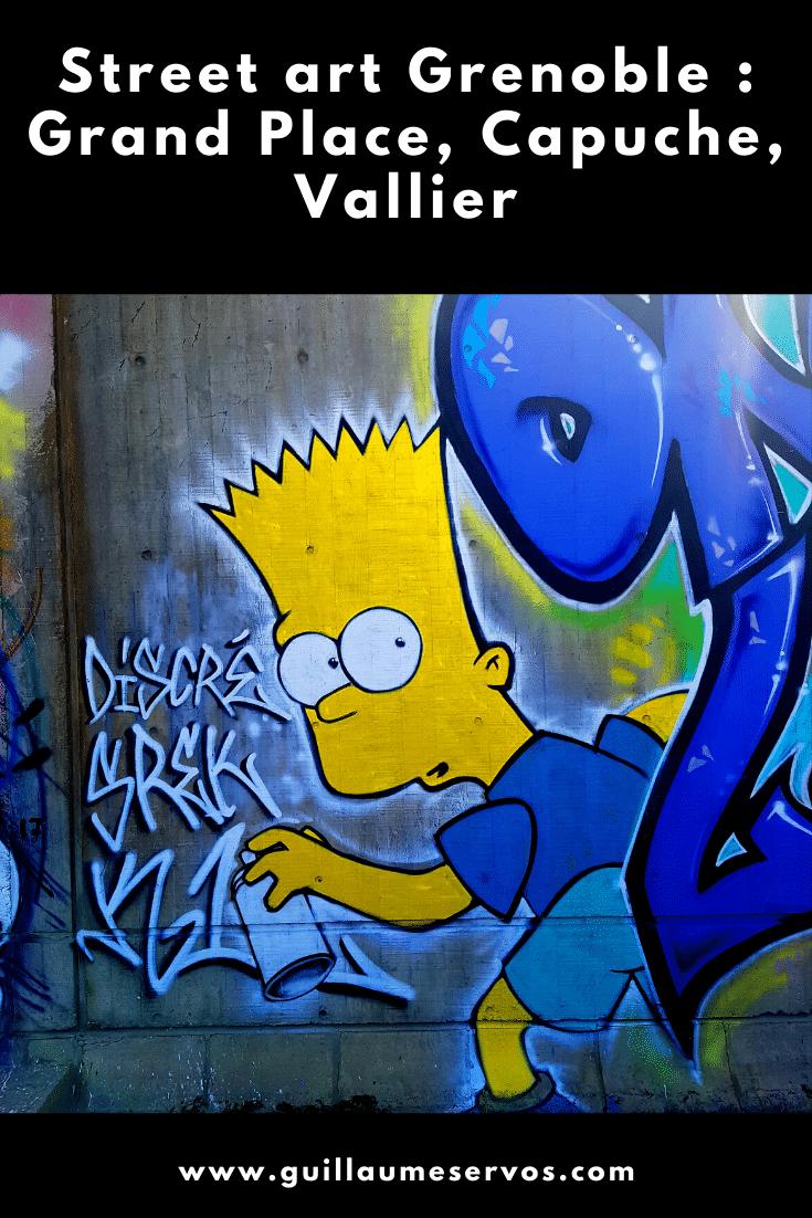 Tu es à Grenoble ? Tu aimes le street art ? Découvre ma balade dans les quartiers de Grand Place, Capuche, Vallier avec son itinéraire détaillé en bonus.