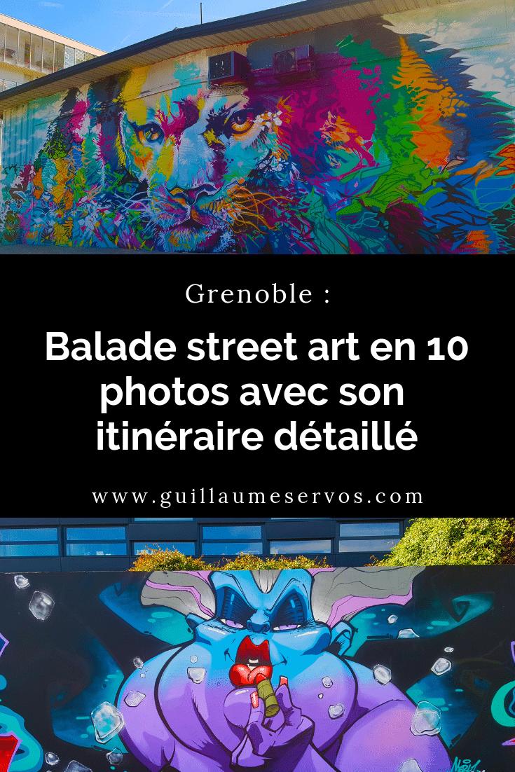 Découvre ma promenade street art à Grenoble avec son itinéraire détaillé. Marche sur les pas de Seth, Goin, C 215, RNST and CO