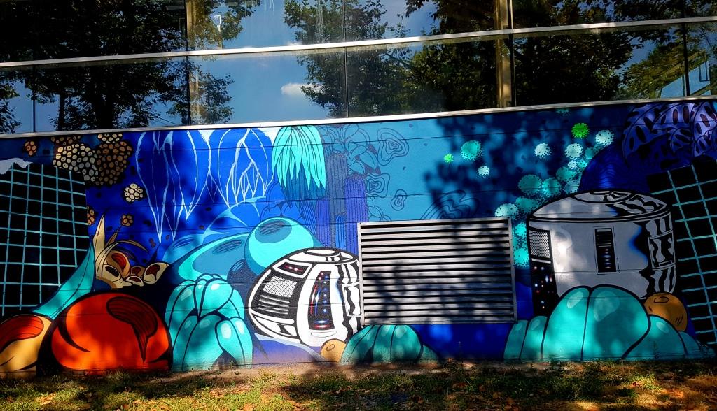 Les street artistes Nesta & Short 79, piscine Flottibulles, 83 cours Saint-André, Pont-de-Claix