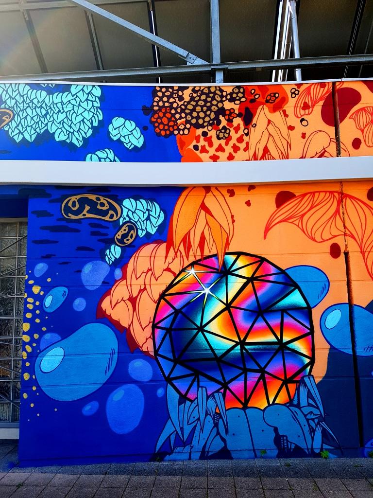 Les street artistes Nesta & Short 79 à Pont-de-Claix