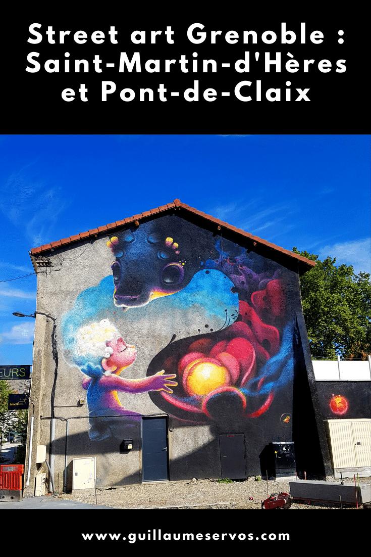 Tu aimes le street art ? Tu es à Grenoble ? Découvre ma balade à Saint-Martin-d'Hères et à Pont-de-Claix avec son itinéraire détaillé en bonus.