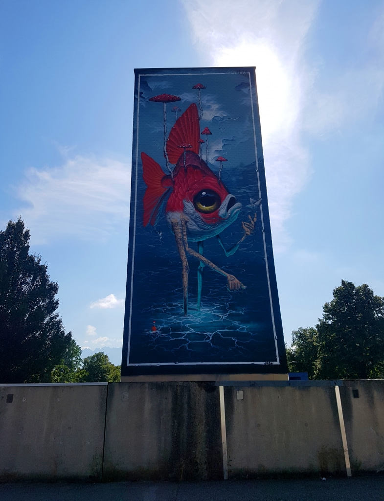 Le street artiste Veks Van Hillik,  21 allée Albert Camus , Pont-de-Claix