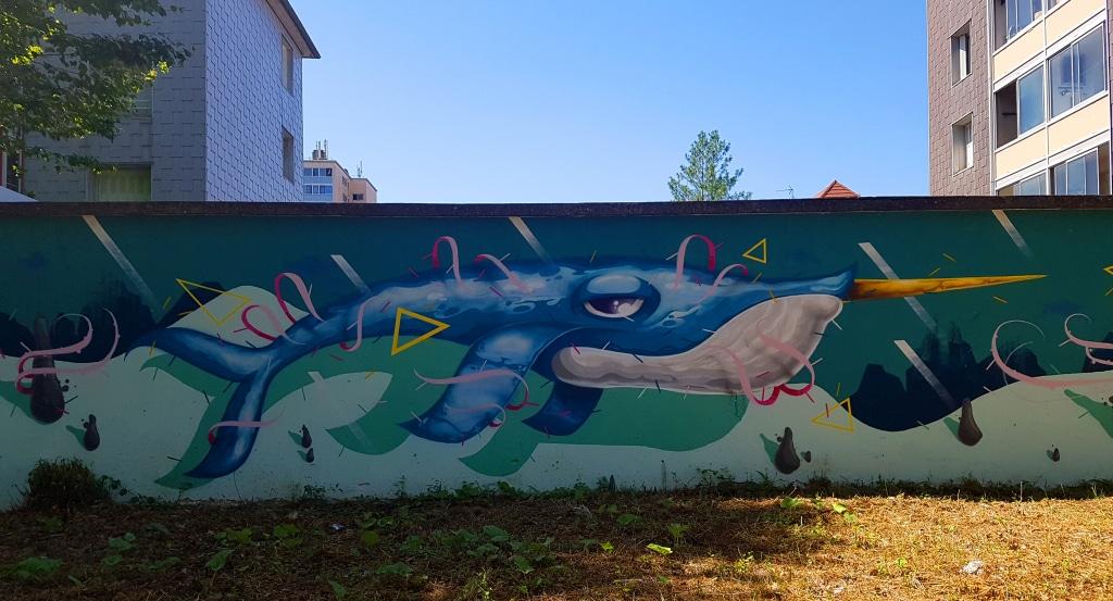 Le street artiste français Groek, 5 rue Charles Berlier, Saint-Martin-D'Hères, street art Grenoble
