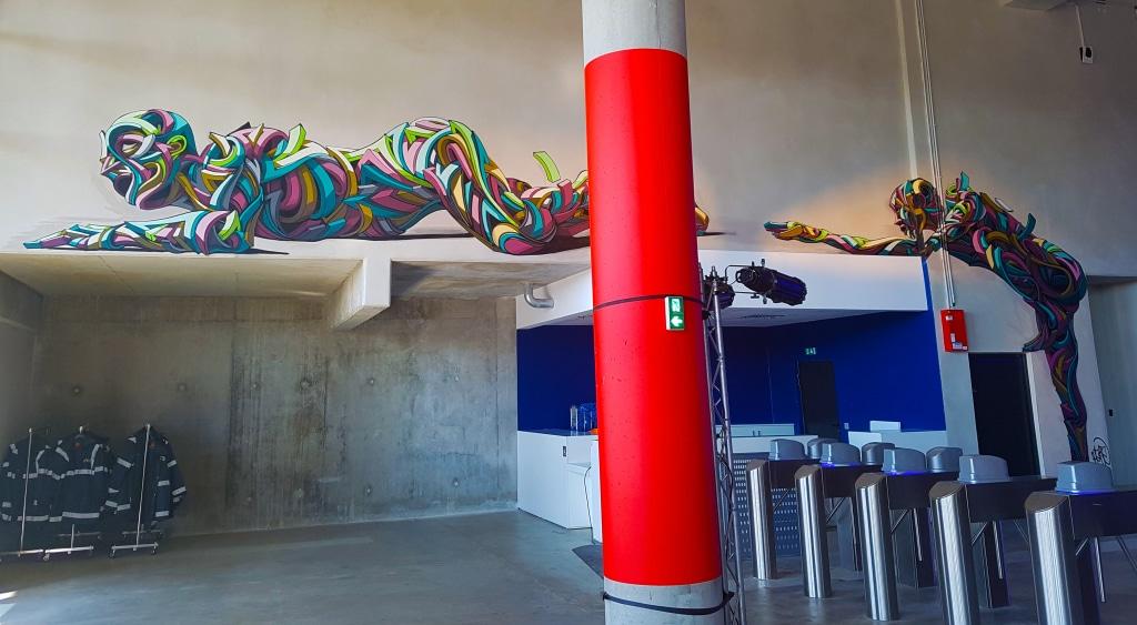 Le street art de Shaka à l'exposition Offside Gallery au Groupama Stadium à Lyon