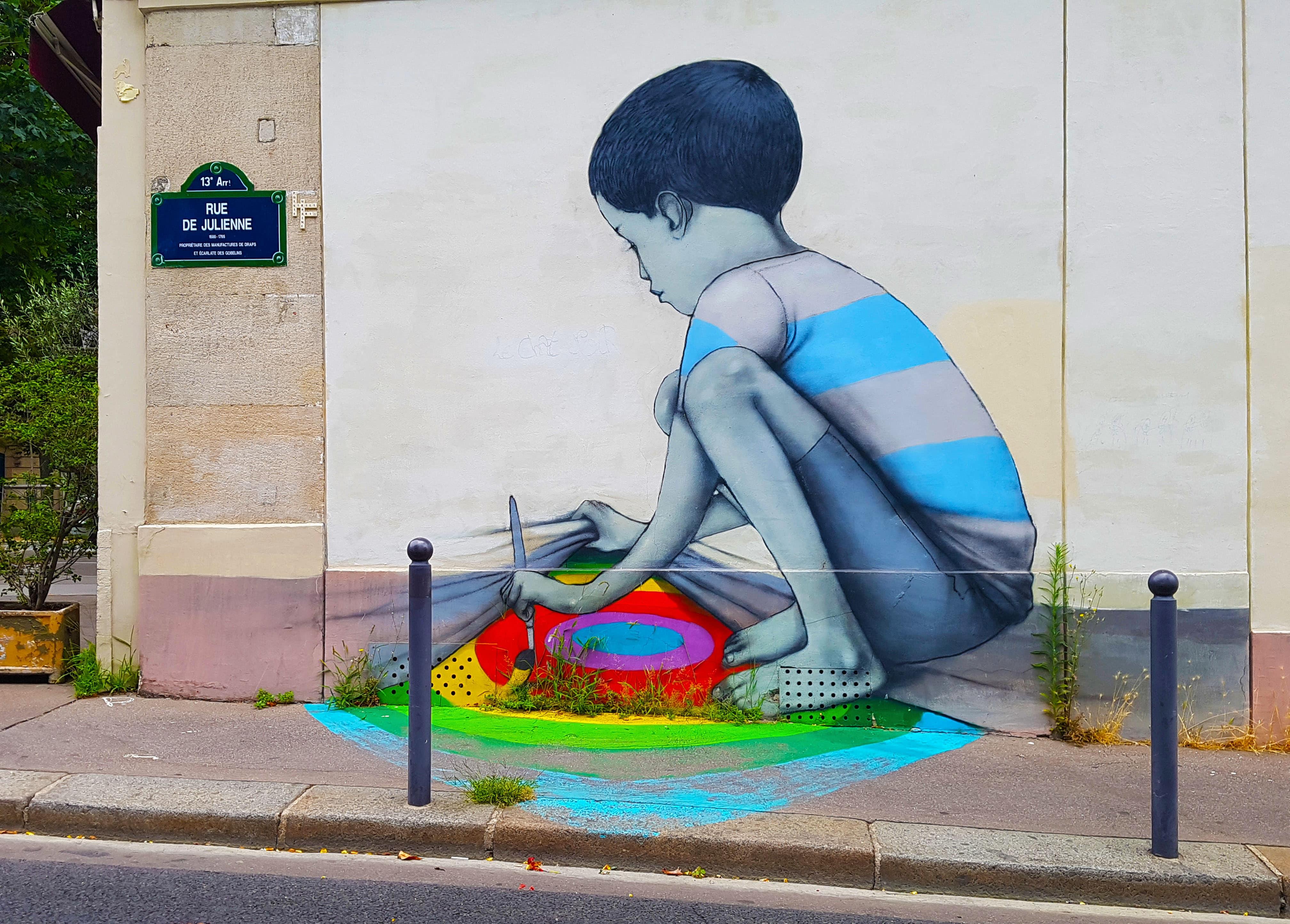 Street art Paris : balade à la Butte-aux-Cailles