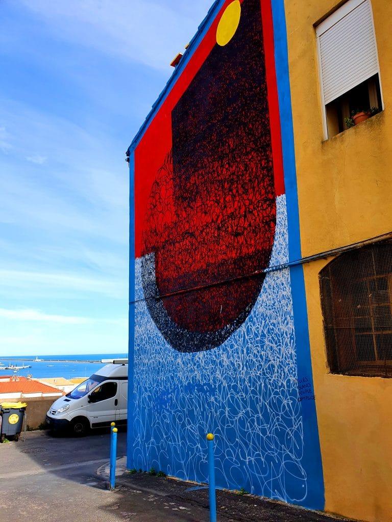 le street artiste Sun7, rue Serre, Sète (France)