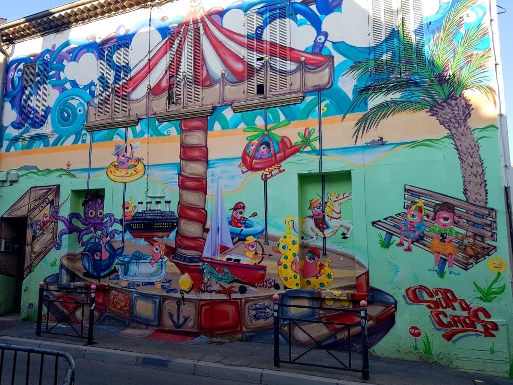 Supo Caos et les murs de sa chambre, La Seyne-sur-Mer