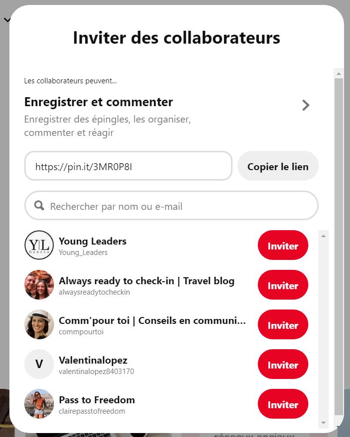 Comment créer un tableau de groupe sur Pinterest ?