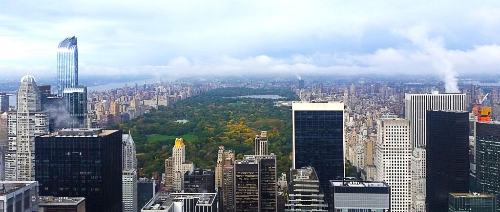 Vue sur Central Park depuis le Top of the Rock, New York à pied
