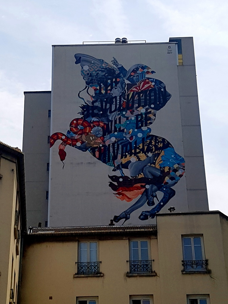 Le street art de Tristan Eaton dans le 13 arrondissement de Paris