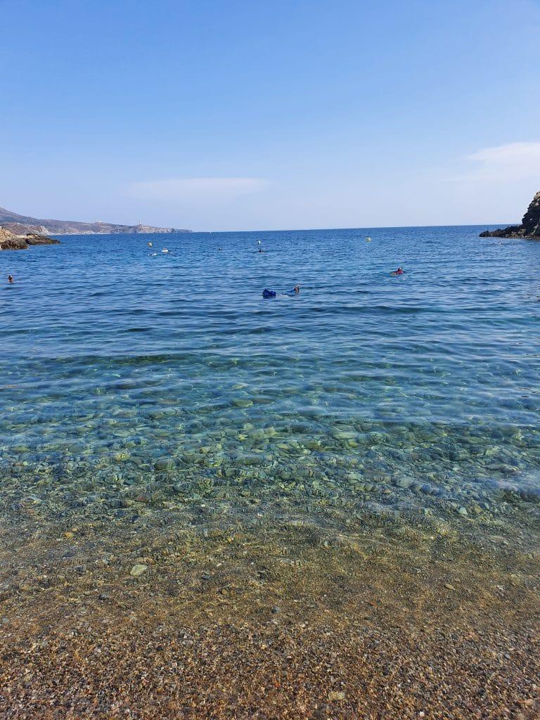 La mer à la plage du Troc (Banyuls)