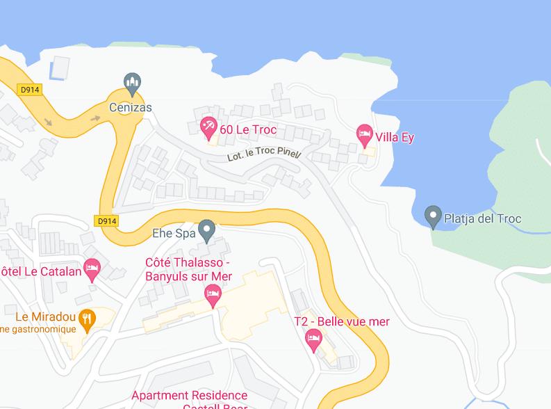 Carte d'accès à la plage du Troc