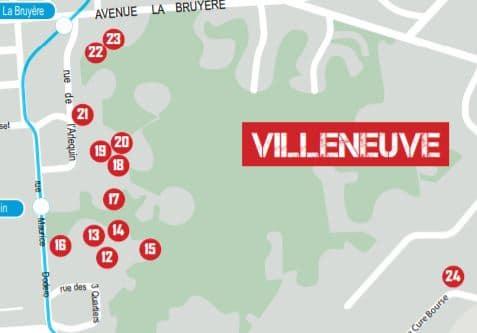 Carte du street art à Villeneuve
