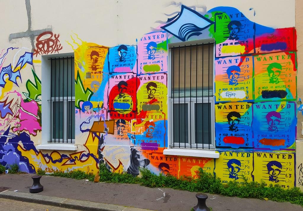 Fresque dans le quartier de la Butte-aux-Cailles à Paris.