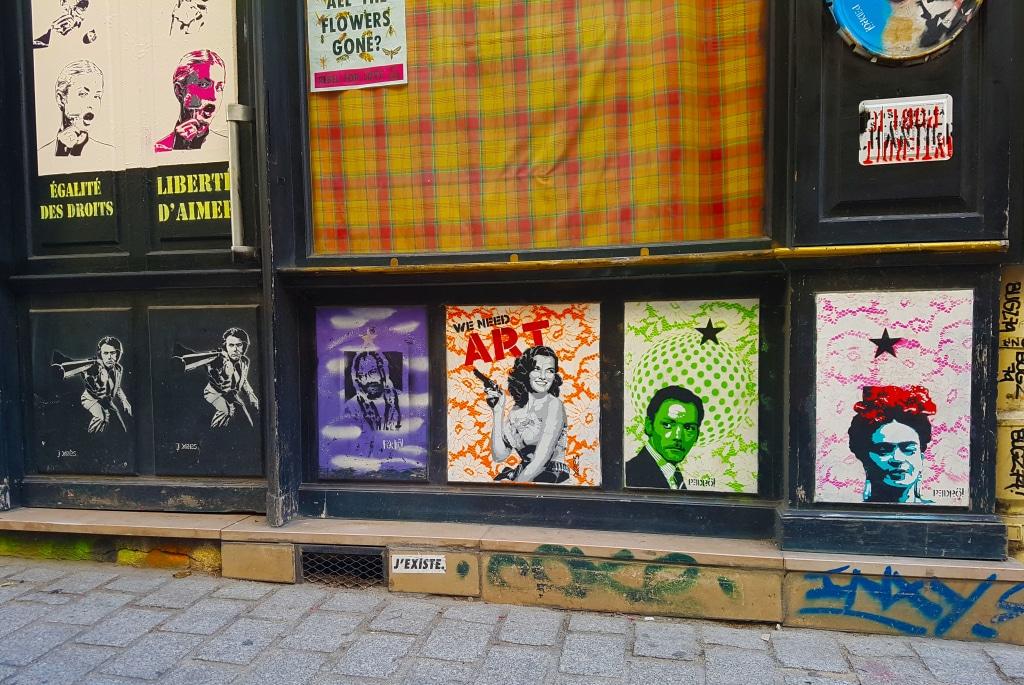 les collages de la rue Dénoyez, Paris.