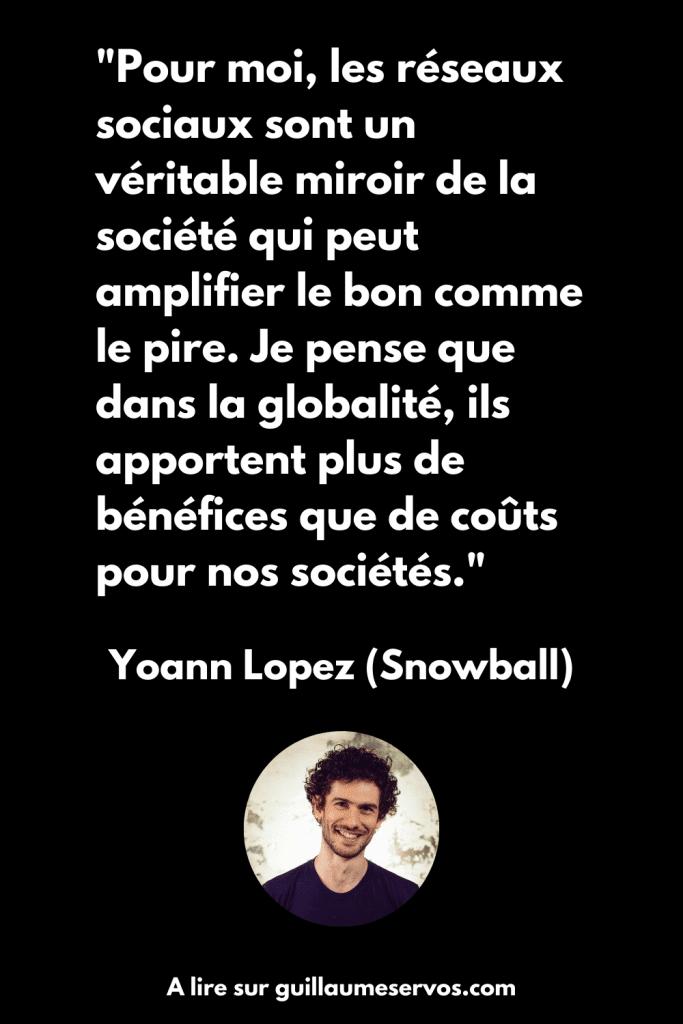 Citation de Yoann Lopez