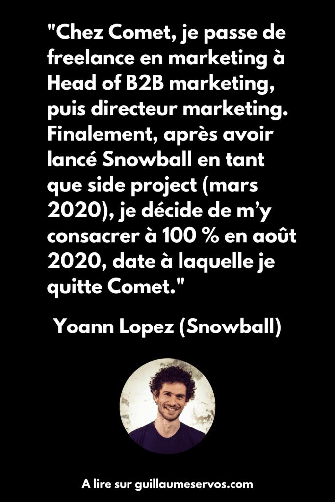 Citation du fondateur de Snowball France