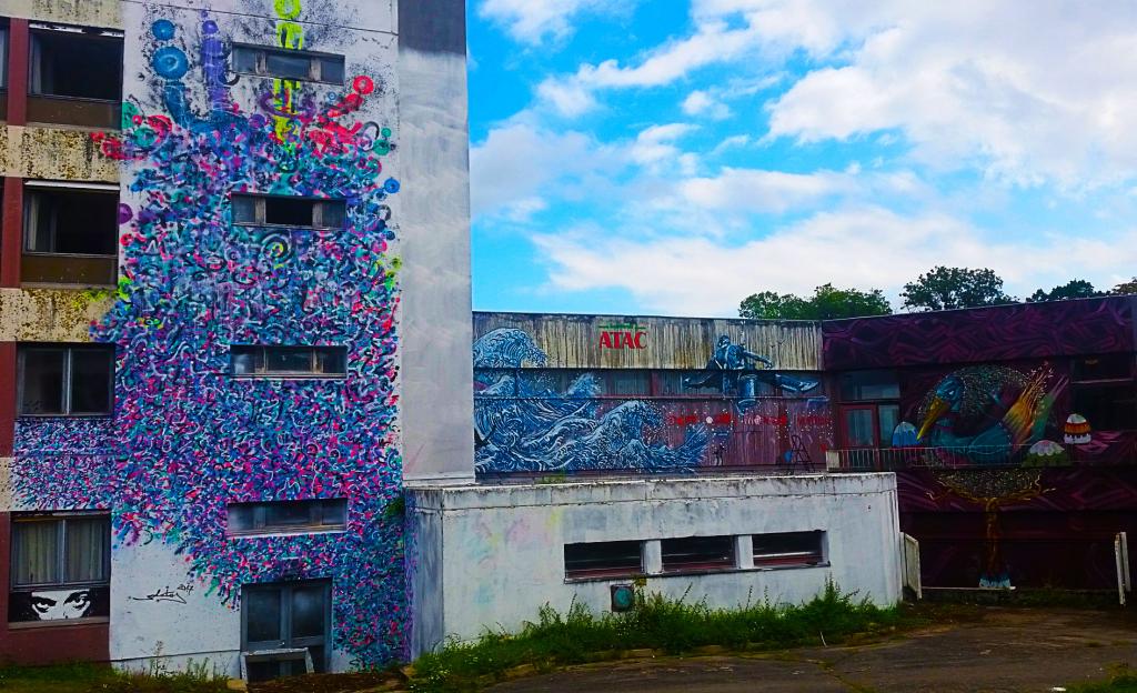 la fresque de Zokatos lors de son passage à la Street Art City