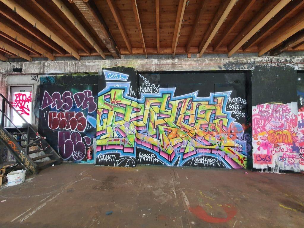Ambiance Urbex et graffiti au Zoo Art Show, Lyon (France)